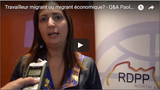 Différence entre travailleur migrant et migrant économique avec Paola Pace
