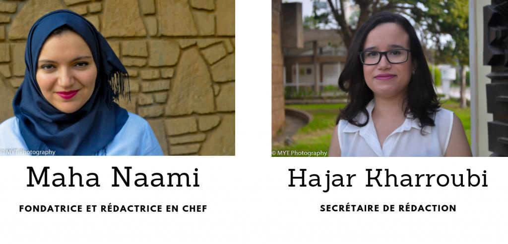 Photos de la fondatrice et de la rédactrice en chef du site Migration.ma