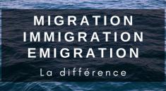 Article qui définit la différence entre migration, immigration et émigration.